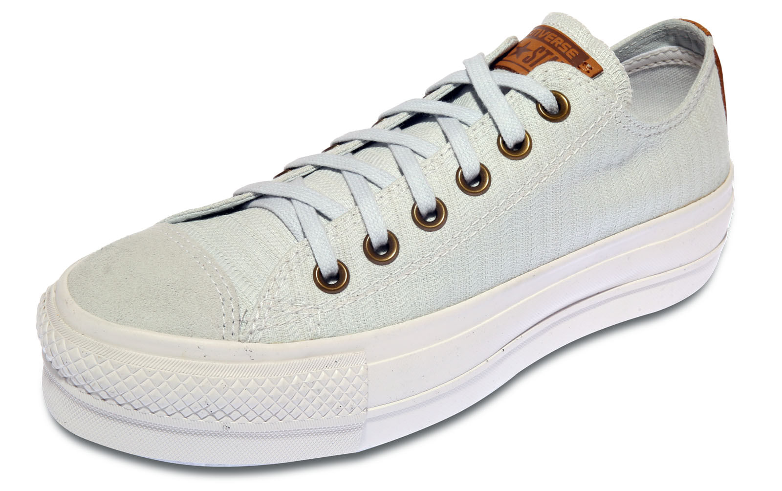 Tenis Converse Chuck Taylor All Star Flatform Cinza - theboxproject 240dd95c85536