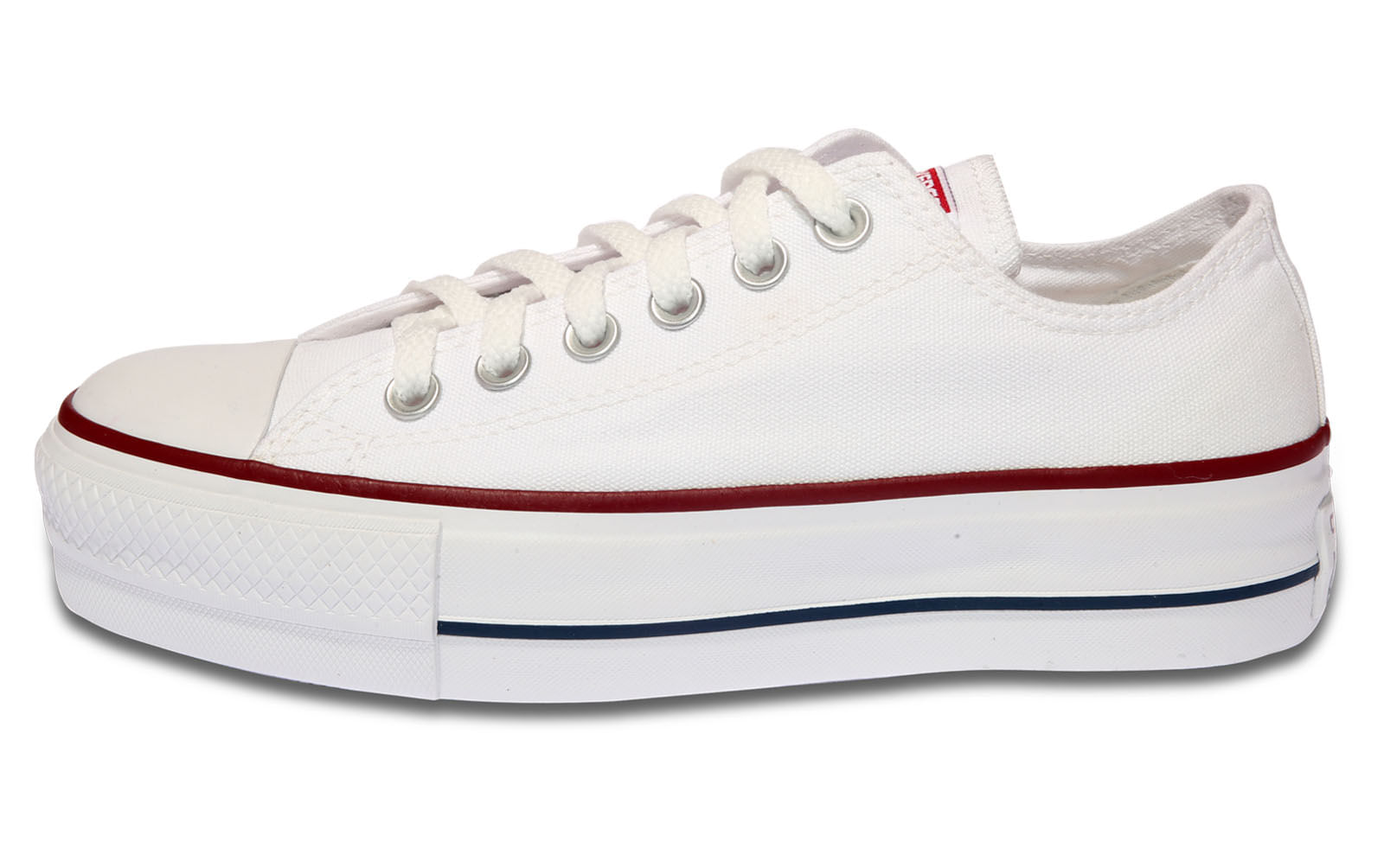 Tenis Converse Chuck Taylor All Star Flatform Branco - theboxproject 6e4f58a869b98